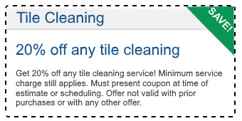 tile cleaning coupon for 20% off any tile cleaning